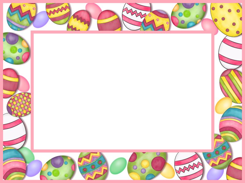 Easter egg clip art border vector library download Easter Frame printable | pastele | Pinterest | Easter vector library download