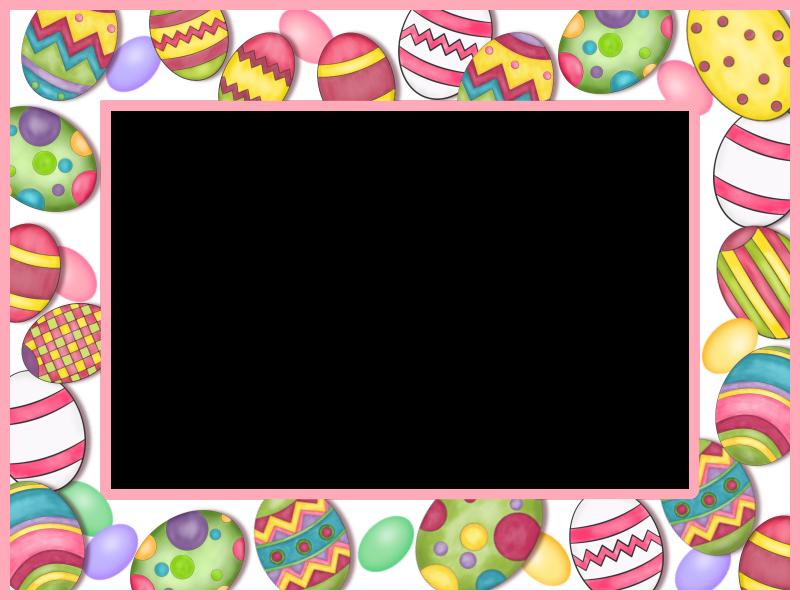 Easter egg clipart border banner black and white stock Easter Frame printable | pastele | Pinterest | Easter banner black and white stock