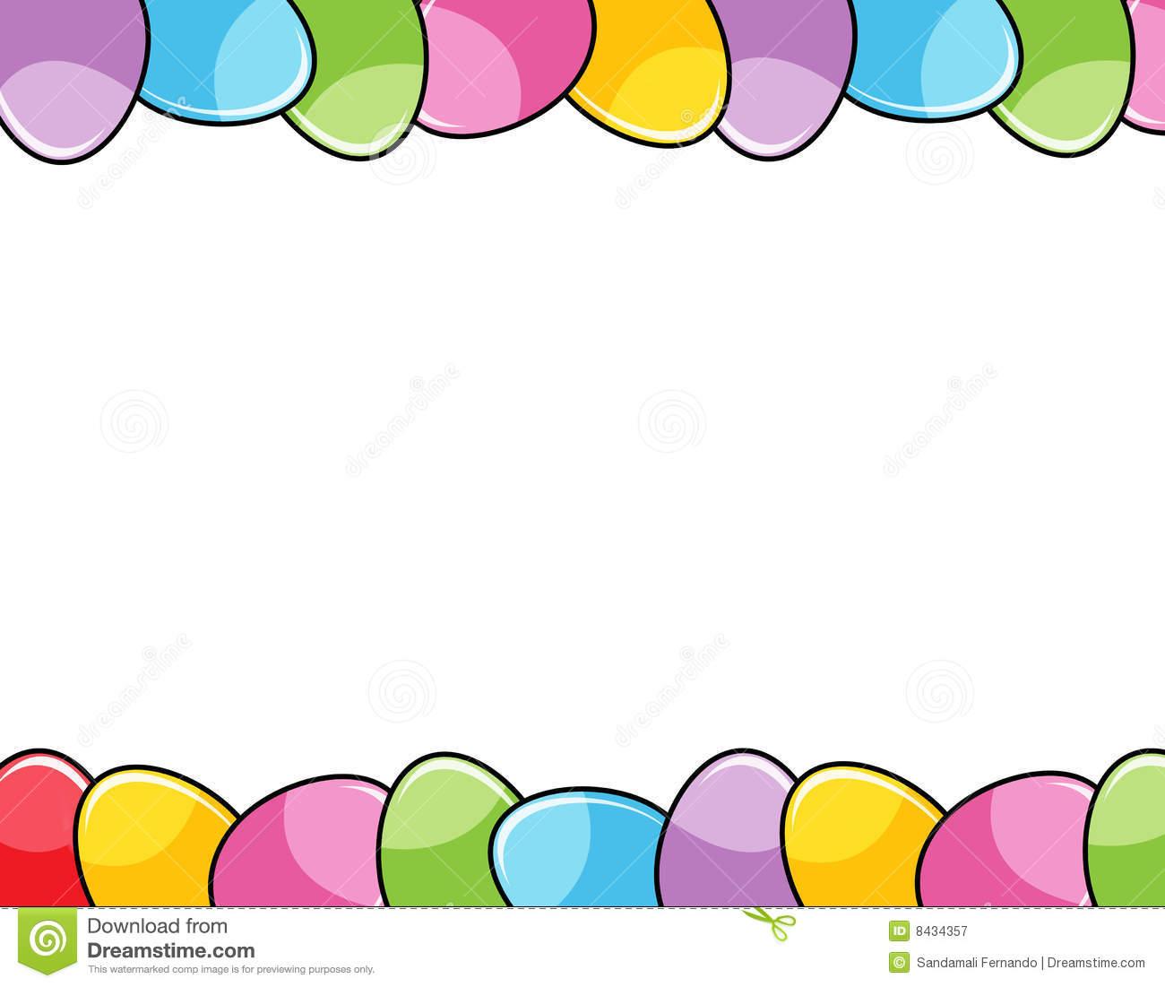 Easter egg border clipart jpg transparent stock Easter egg border clip art - ClipartFest jpg transparent stock