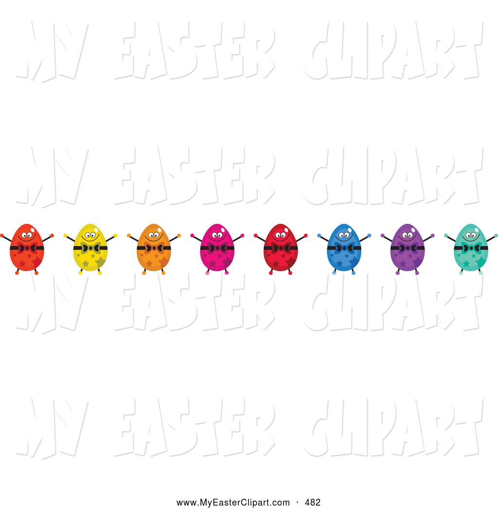Easter egg border clipart clipart royalty free library Egg borders clip art - ClipartFest clipart royalty free library
