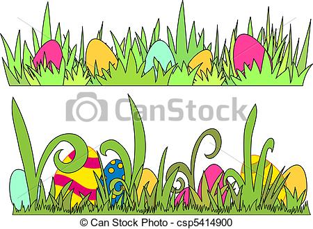 Easter egg clip art border jpg royalty free download Vector Clipart of Easter Egg border - vector csp5414900 - Search ... jpg royalty free download