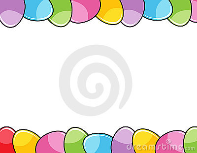Easter egg clip art border banner black and white library Easter Eggs Border Stock Image - Image: 13040401 banner black and white library