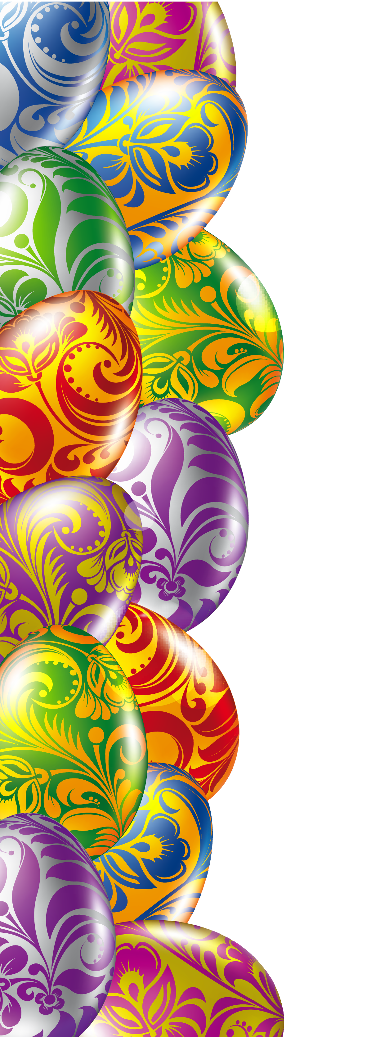 Easter egg clip art border transparent stock Easter Eggs Border Transparent PNG Picture | Crafting - Easter Theme ... transparent stock