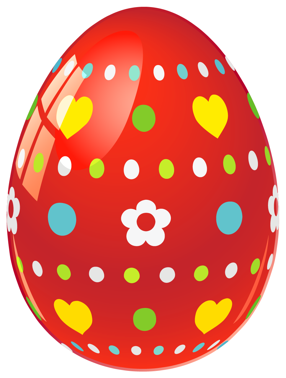 Easter egg clip art images clip art freeuse download Red Easter Egg with Flowers and Hearts PNG Picture | Gallery ... clip art freeuse download