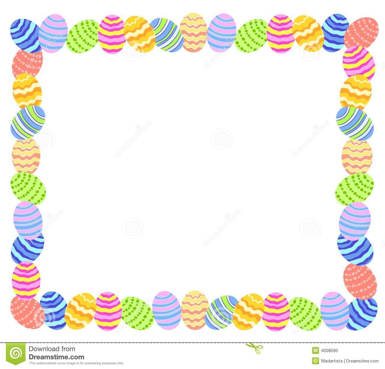 Easter egg clipart border transparent Easter egg clip art border - ClipartFest transparent