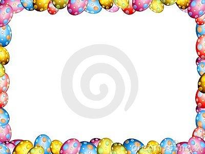 Easter egg clipart border picture freeuse download Easter Egg Photo Frame Or Border Stock Photo - Image: 4008590 picture freeuse download