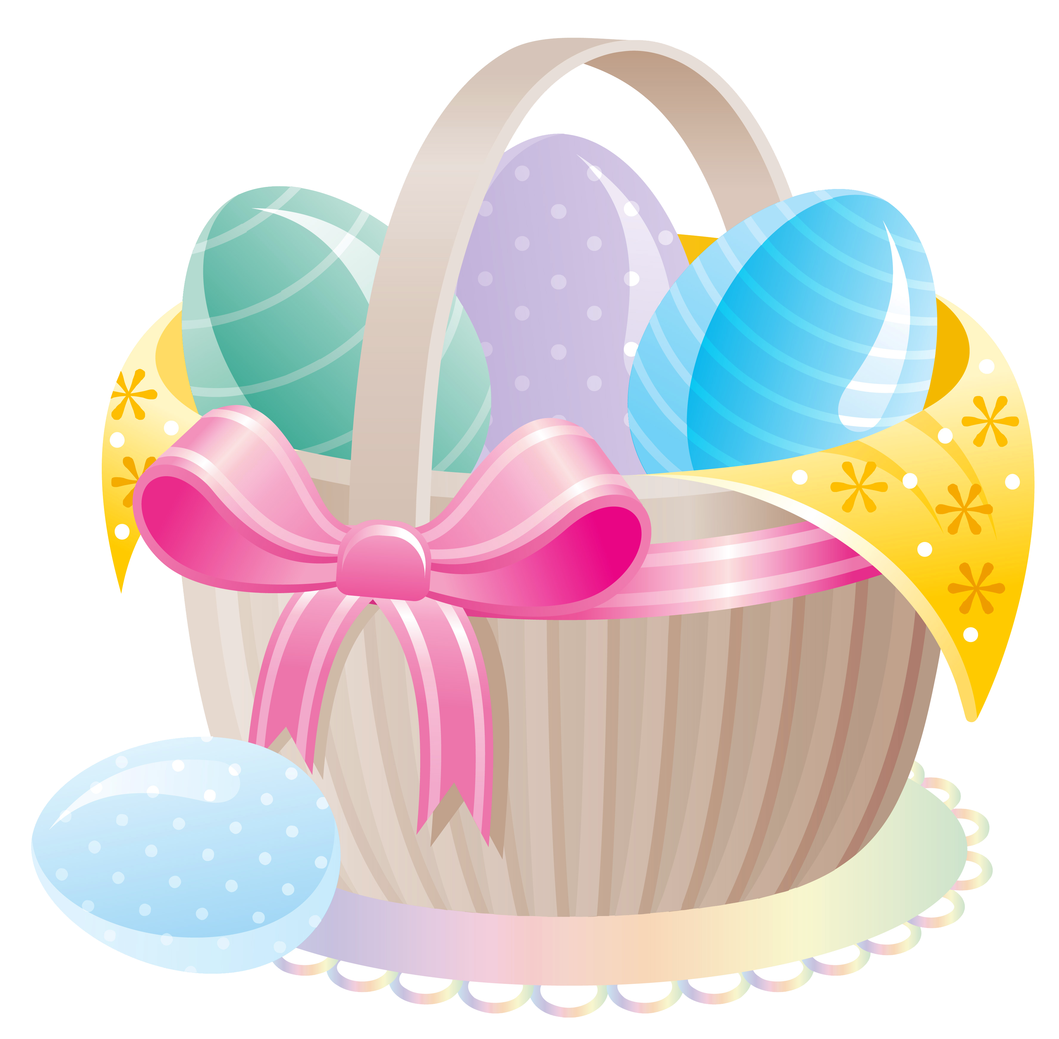 Easter egg clipart frame picture library download Delicate Basket with Easter Eggs PNG Clipart | Gallery ... | Easter ... picture library download