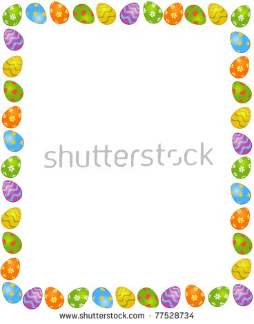 Easter egg clipart frame svg Easter Eggs Frame Stock Vector 379170847 - Shutterstock svg