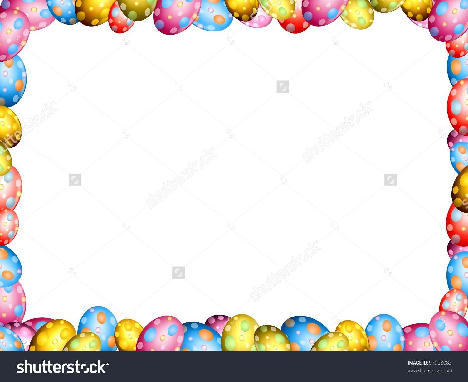 Easter egg clipart frame clipart transparent Easter Eggs Border Frame Illustration Stock Illustration 97908083 ... clipart transparent