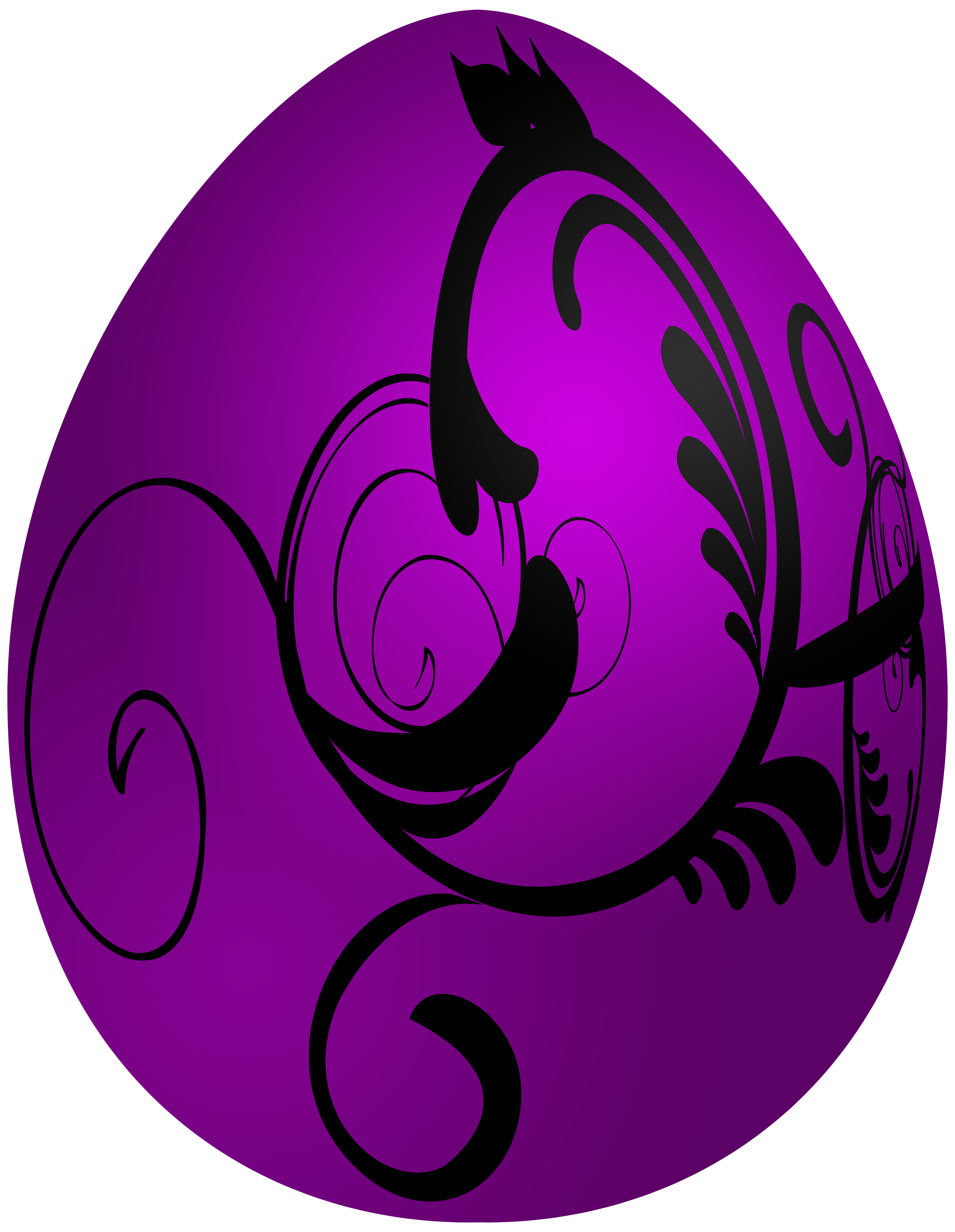 Easter Purple Deco Egg PNG Clip Art - Best WEB Clipart graphic library