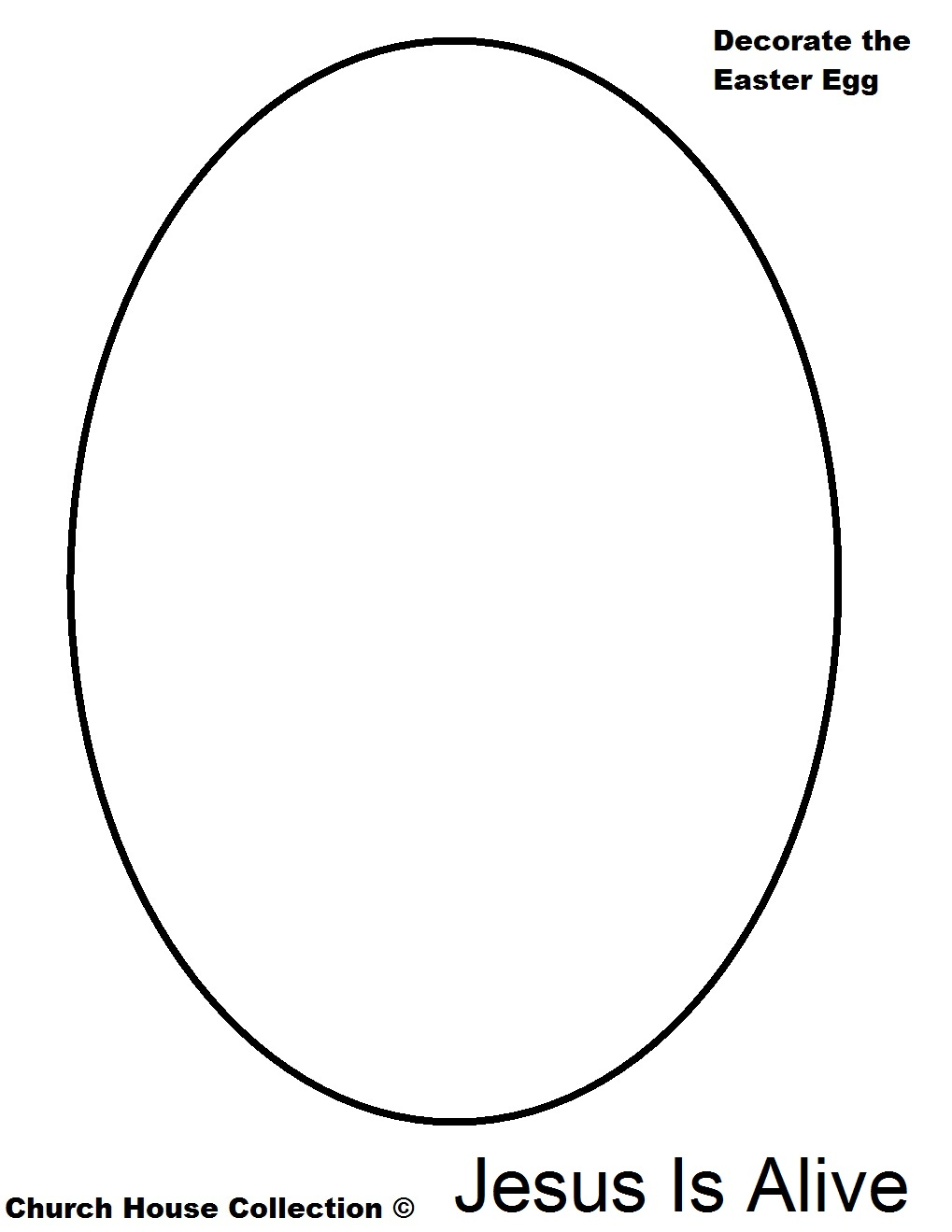 Collection Easter Egg Outline Pictures - Perfect plan for your ... clipart black and white download