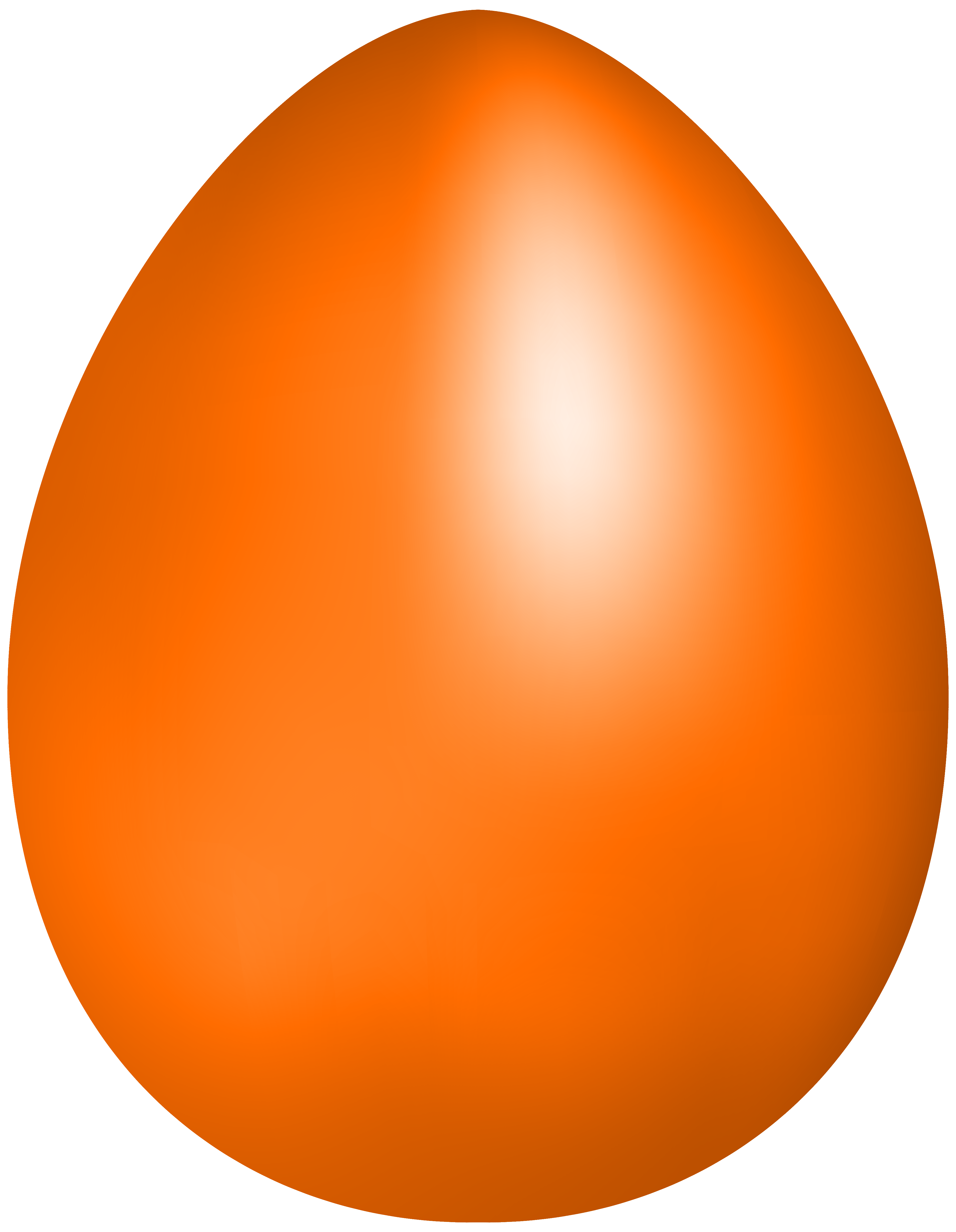 Orange Easter Egg PNG Clip Art - Best WEB Clipart clipart transparent