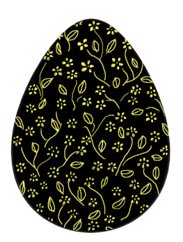 Easter egg clipart silhouette vector black and white download Funny and Cute Easter Clip Art vector black and white download
