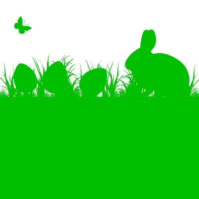 Easter egg clipart silhouette svg black and white Silhouette Easter Bunny and Eggs on Grass, Vector - Clipart.me svg black and white