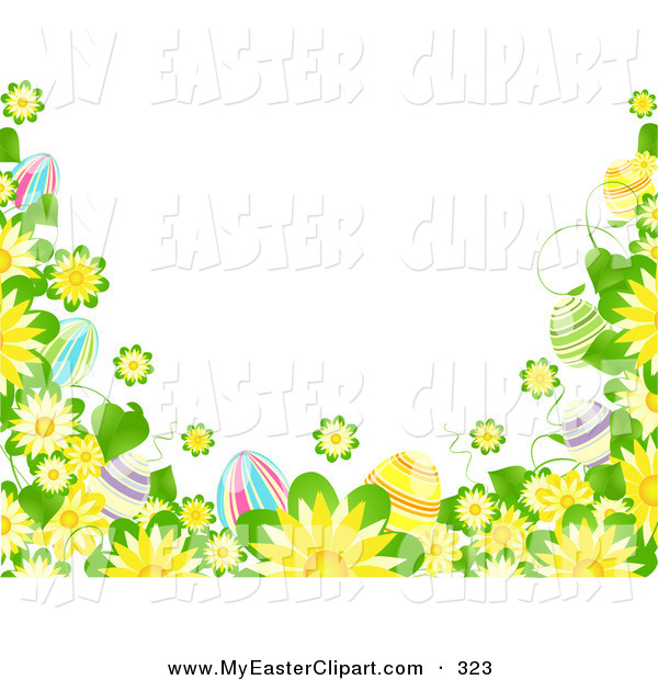 Easter egg corner clipart vector free stock Royalty Free Stock Easter Designs of Borders vector free stock