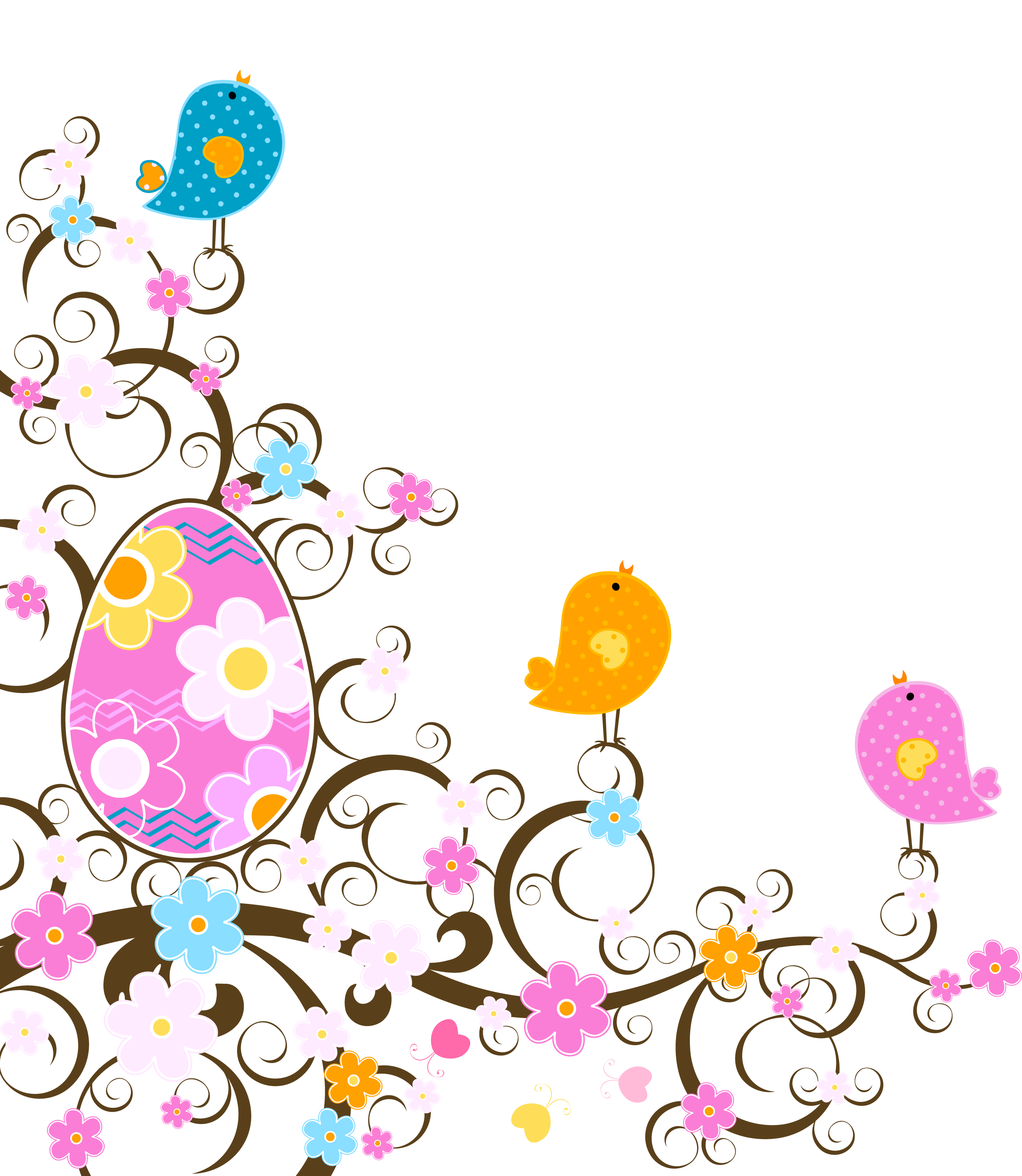 Easter flower clipart png graphic transparent Easter Decoration with Flowers PNG Transparent Clipart | Easter ... graphic transparent