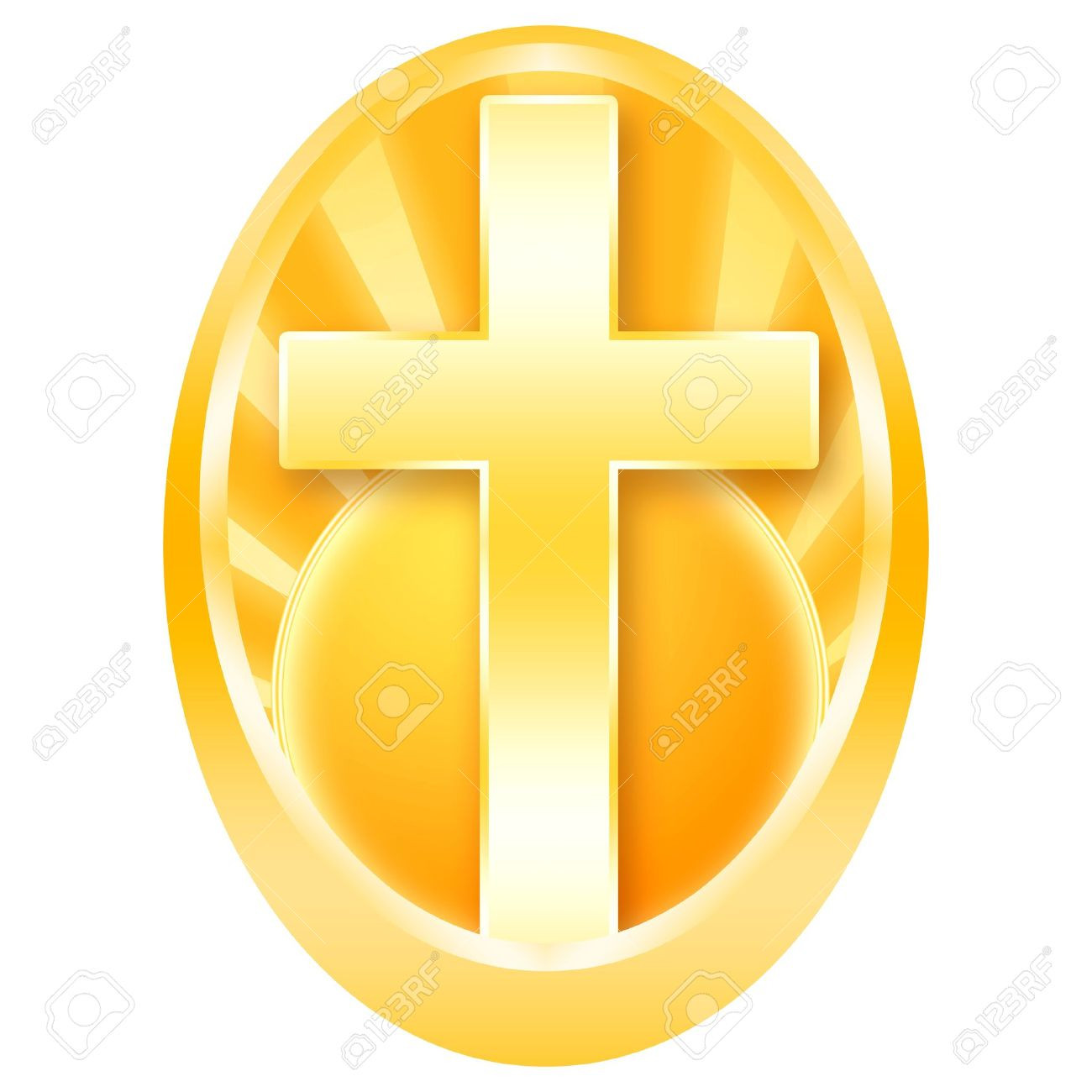 Easter egg cross clipart banner stock Easter Egg Decorated With Golden Cross In The Rays Of The Sun ... banner stock