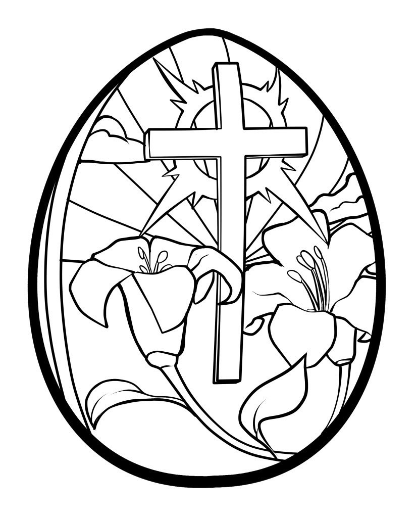 Easter egg cross clipart transparent download catholic colouring pages page 3. picture of a cross to color ... transparent download