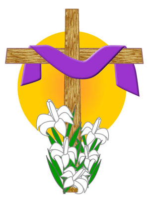 Easter egg cross clipart png royalty free library Easter Clip Art and Scrapbook Borders png royalty free library