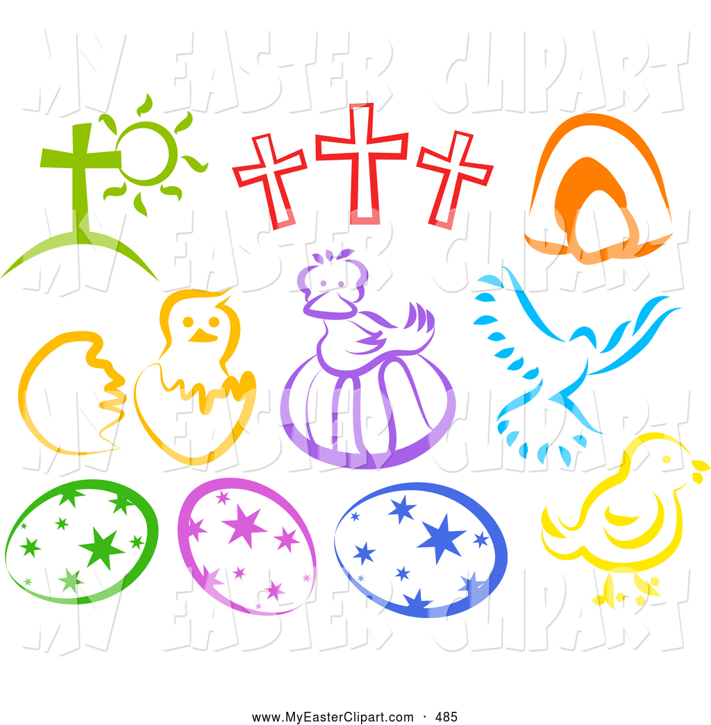 Easter egg cross clipart png library library Royalty Free Religion Stock Easter Designs png library library