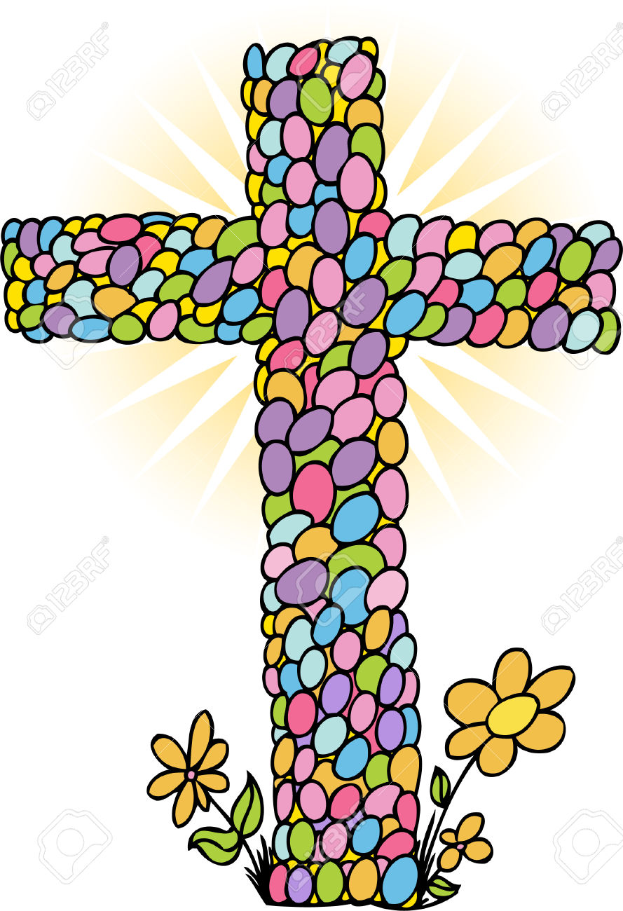 Easter egg cross clipart svg freeuse Easter Egg Cross Royalty Free Cliparts, Vectors, And Stock ... svg freeuse