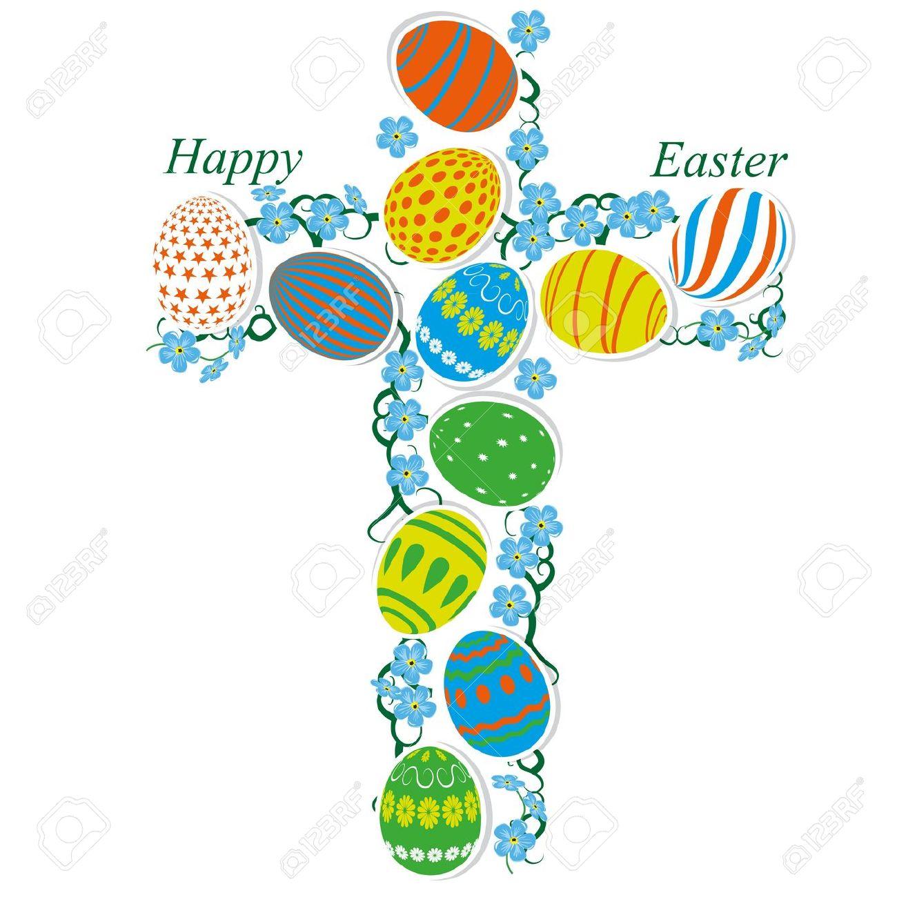 Easter egg cross clipart jpg stock Easter egg cross clipart - ClipartFest jpg stock