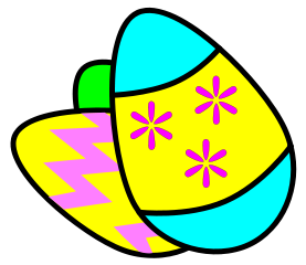 Easter egg cross clipart image black and white library Free Easter Cross Clipart - Public Domain Holiday/Easter clip art ... image black and white library