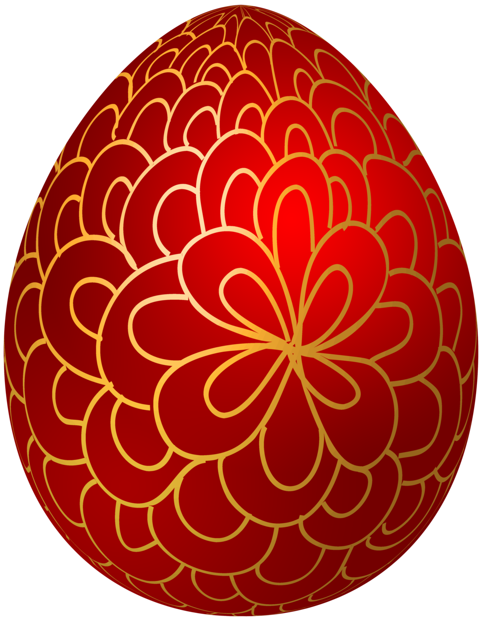 Easter egg crown clipart clip art library stock Red Decorative Easter Egg PNG Clip Art clip art library stock