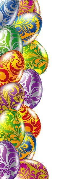 Easter egg frame clipart png svg Easter Eggs Border Transparent PNG Picture | STATIONARY ... svg
