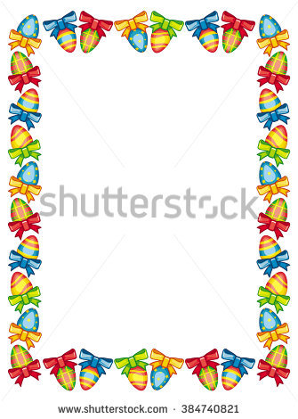 Easter egg frame clipart png image black and white library Easter Frame Stock Images, Royalty-Free Images & Vectors ... image black and white library