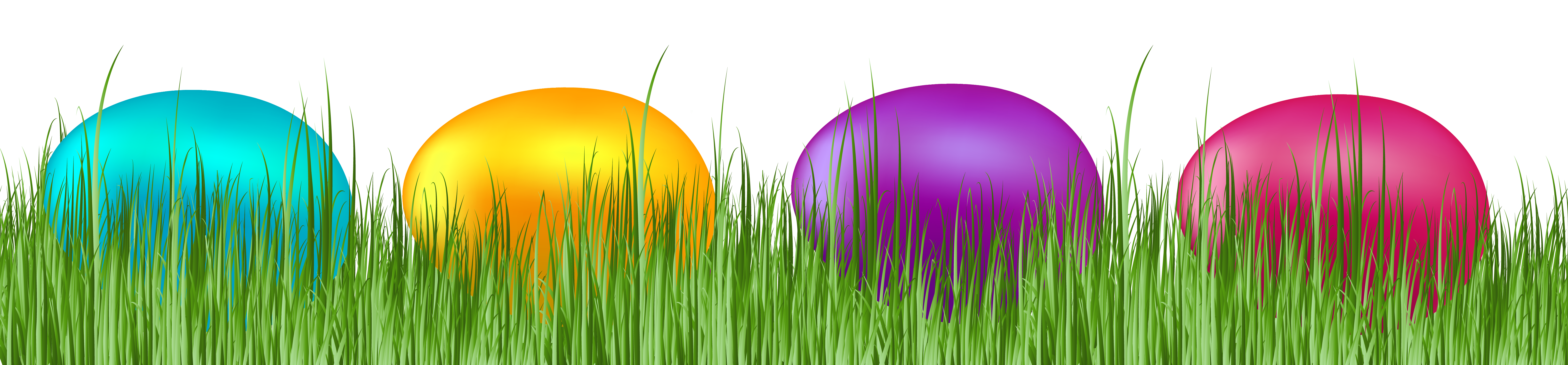 Easter egg clip art border banner royalty free stock Grass with Easter Eggs Transparent PNG Clip Art Image banner royalty free stock