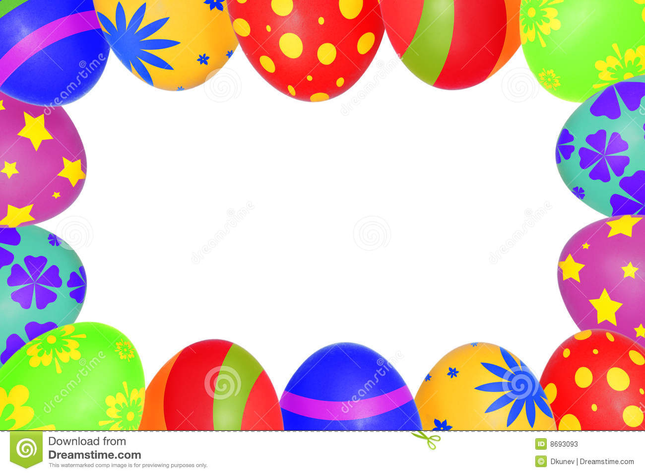 Easter egg frame clipart png graphic library download Easter Eggs Frame Stock Photos - Image: 8693093 graphic library download