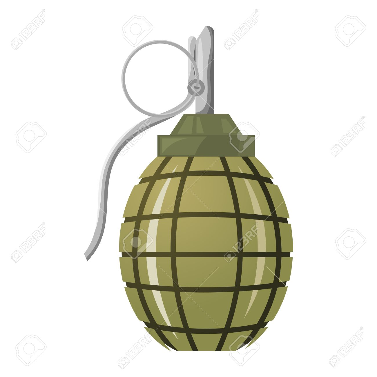 Hand Grenade On A White Background. Royalty Free Cliparts, Vectors ... vector library library