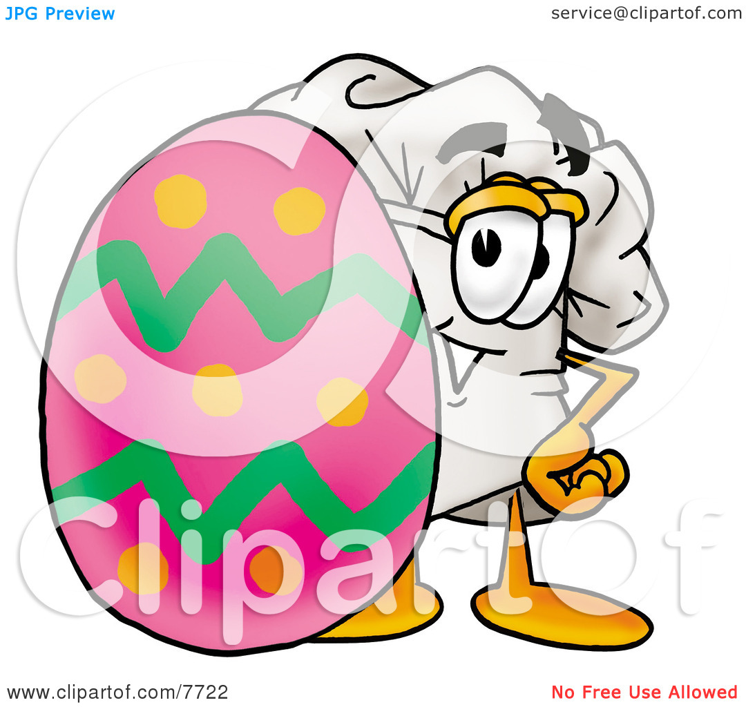 Easter egg hat clipart clip transparent download Clipart Picture of a Chefs Hat Mascot Cartoon Character Standing ... clip transparent download