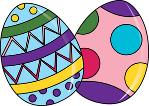 Easter egg hat clipart picture royalty free download Easter Eggs Clipart Image - clip art cartoon of beautifully ... picture royalty free download