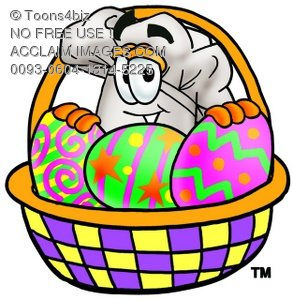 Easter egg hat clipart jpg library Stock Clipart Image of a Cartoon Chef Hat Character Behind an ... jpg library