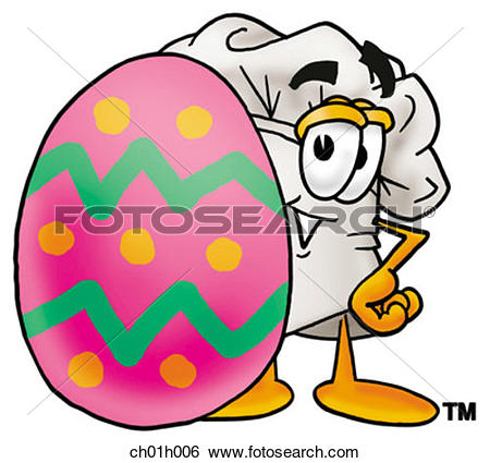 Easter egg hat clipart png freeuse Clip Art of Chef hat and easter egg ch01h006 - Search Clipart ... png freeuse