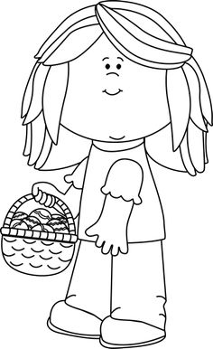 Easter egg hunt black and white clipart svg stock Boy on Easter Egg Hunt | Clip Art-Spring | Pinterest | Boys ... svg stock