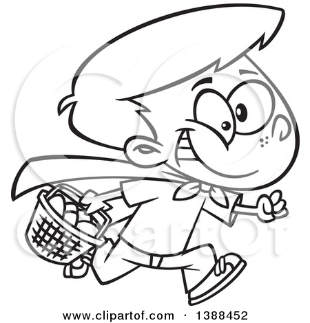Easter egg hunt black and white clipart image black and white stock Royalty Free Easter Egg Hunt Illustrations by Ron Leishman Page 1 image black and white stock