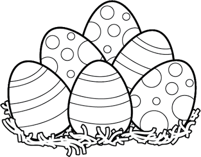 Easter egg hunt black and white clipart picture library Easter eggs black and white clipart - ClipartFest picture library