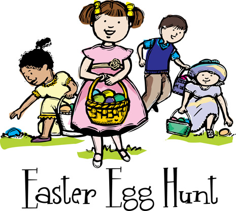 Easter egg hunt boy and girl clipart svg royalty free stock Easter egg clip-art for all your Spring events |ChurchArt Online svg royalty free stock