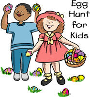 Easter egg hunt boy and girl clipart png royalty free library Easter egg clip-art for all your Spring events |ChurchArt Online png royalty free library
