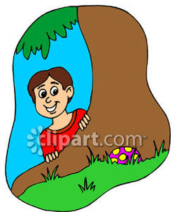 Easter egg hunt boy and girl clipart clip art library stock Boy Finding an Egg on an Easter Egg Hunt - Royalty Free Clipart Picture clip art library stock