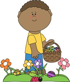 Easter egg hunt clip art image free library Girl on Easter Egg Hunt | school clipart | Pinterest | Search ... image free library