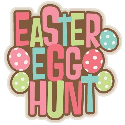 Easter egg hunt clip art graphic freeuse download Easter Egg Hunt Title SVG scrapbook cut file cute clipart files ... graphic freeuse download