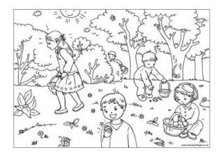 Easter egg hunt clipart black and white clipart freeuse download Easter Colouring Pages clipart freeuse download