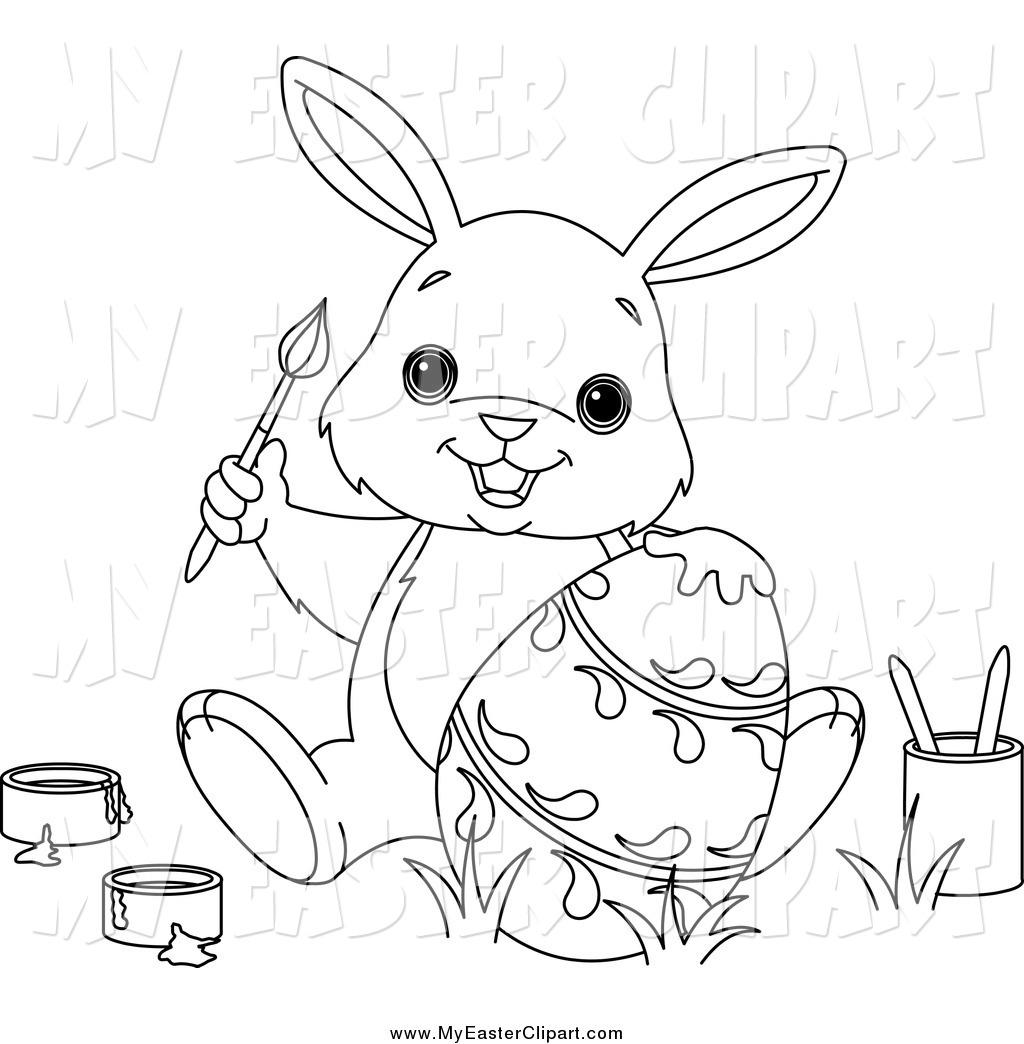 Easter egg hunt clipart black and white clip transparent White easter egg clipart to paint - ClipartFest clip transparent