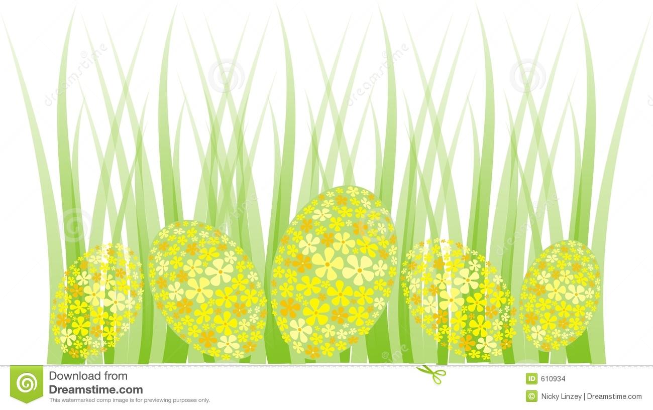 Easter egg hunt clipart border image transparent Easter Egg Grass Border Stock Images - Image: 610934 image transparent