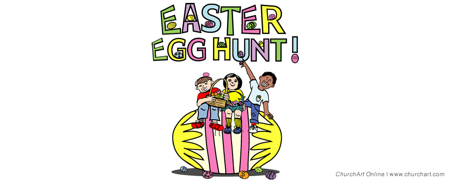 Easter egg hunt clipart border image black and white download Easter Egg Clip-art |ChurchArt Online image black and white download