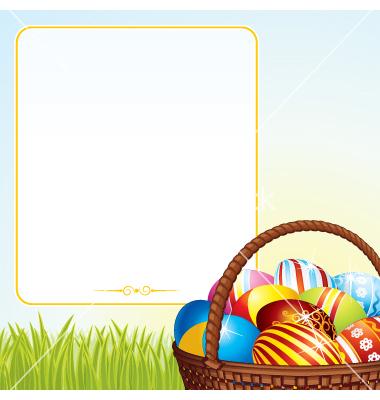 Easter egg hunt clipart border banner royalty free download Spring easter basket vector by PILart - Image #806979 - VectorStock banner royalty free download